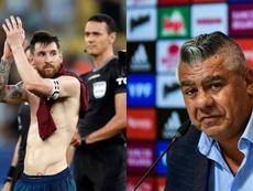 Tapia intentará que la CONMEBOL sea benevolente con Messi. Montaje/EFE/AFP