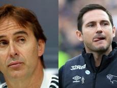 Lopetegui irrumpe en la agenda del Chelsea y Lampard sigue a la espera. EFE/AFP