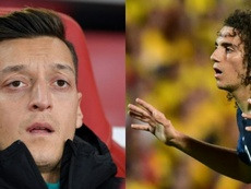 Ozil and Guendouzi look set to leave Arsenal. AFP