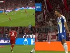 Lewandowski volvió a abrir la lata en la Bundesliga. Captura/FS2