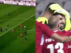 Un español marcó el mejor gol de la jornada ¡desde su campo! Capturas/MovistarLigaCampeones