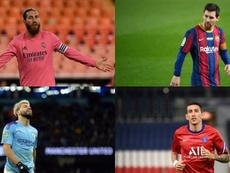 Les joueurs dont le contrat termine en 2021. EFE