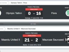 Del 21-2 al 0-16: dos abultadas goleadas en la Copa de Estonia. BeSoccer