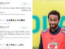 Las extrañas informaciones sobre Neymar llegadas de Catar. EFE/Twitter