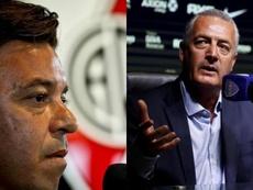 Gallardo y Alfaro apoyaron a Bielsa. Montaje/BeSoccer