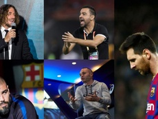 Some of Barcelona's legends are unhappy with Barça's board. EFE/AFP