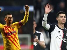 Messi e Cristiano contiuam no topo da lista dos mais bem pagos. EFE/AFP