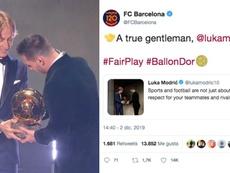 El tweet de Modric desató los elogios del Barça. Captura/GOL/Twitter