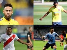 De Neymar a Farfán: el once de lesionados de esta Copa América. AFP/EFE
