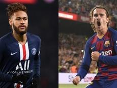 Un trueque Neymar-Griezmann es una posibilidad. AFP/Archivo