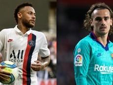 El Barça piensa en un trueque Griezmann-Neymar. AFP