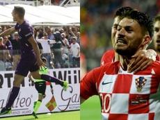 Milenkovic y Petkovic, defensa y delantero pretendidos por el Barça. Twitter/acffiorentina/EFE