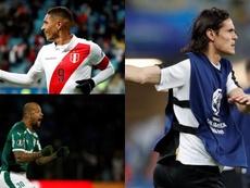 Felipe Melo, Paolo Guerrero, Cavani... Beraldi pega con fuerza en Boca. Montaje/EFE/AFP
