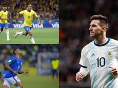Los 10 futbolistas más valorados de la Copa América. Montaje/AFP