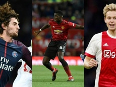 Rabiot, Pogba et De Jong restent au Barça. EFE/AFP