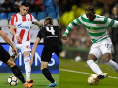 El Estrella Roja y el Celtic se la juegan este martes. AFP