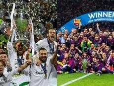 Real Madrid y Barcelona se han repartido las últimas siete Champions. AFP/BeSoccer
