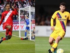 Renato y Aleñá, opciones preferentes del Betis. Montaje/EFE/FCBarcelona