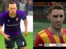 Se armó el debate en las redes: ¿el Ribéry de FIFA 20 o el de PES 06? Montaje/Captura