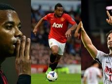 Robinho, Anderson y Pato pudieron ser grandes estrellas mundiales. AFP