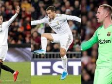 Importantes ausências nas quatro equipes. EFE/AFP