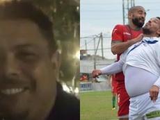 Se burlaron de él por su sobrepeso y Ronaldo salió a defenderlo. Montaje/Captura/DeportivoLaferrere