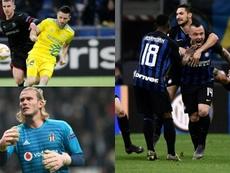 Tres equipos salen de la lista negra por el 'Fair Play Financiero'. Montaje/AFP