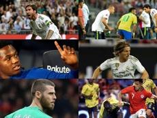 El ascensor del 'virus FIFA' tiene seis protagonistas. Montaje/AFP/EFE