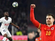 Tottenham est contre un échange Ndombélé-Ramsey. AFP
