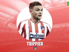 El Atlético confirmó el fichaje de Trippier. BeSoccer