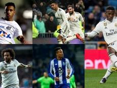 O Real Madrid contará com cinco brasileiros na próxima temporada. EFE/AFP
