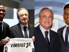 Vinicius y Rodrygo tendrán que lidiar con la presión de jugar en el Madrid. EFE/RealMadrid