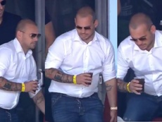 Wesley Sneijder has put on weight since retiring. Capturas/Ole