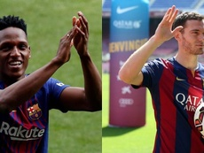 El Barça tendrá que decidir que pasará con ambos jugadores. Montaje/BeSoccer