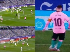 Lionel Messi played a key role in the first two Barca goals. Screenshot/MovistarLaLiga