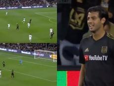 Vela hizo el 2-0 y mantiene su 'media perfecta'. Capturas/MLS