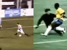 Amago de 'crack' y gol. Captura/CarlosAndresFerreyra/Youtube