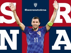 Srna has joined Cagliari. Twitter/Cagliari