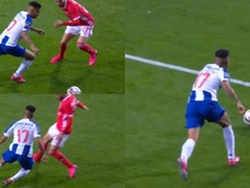 Corona volvió loco a Rafa Silva. Captura/FCPorto