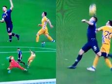 El error de Lenglet entregó el 0-1 a Moldavia. Captura/UEFATV