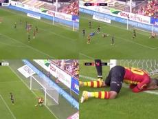 Vranckx falló un gol cantado. Capturas/ElevenSports/BEn