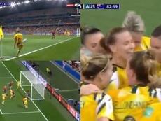 Australia igualó el partido 'in extremis'. Captura/GOL
