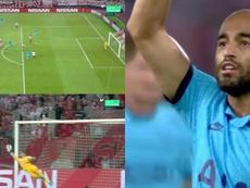 L'histoire d'amour entre Lucas et la Ligue des Champions continue. Captures/Movistar+
