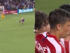 El zurdazo de Llorente para debutar como goleador con el Atleti. Capturas/Gol
