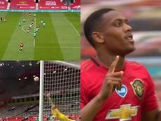 La remontada express de Man United en 15 minutes. Captures/DAZN