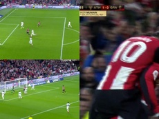 Muniain made it 1-0 to Athletic Bilbao against Granada. Capturas/Cuatro