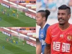 Paulinho é destaque da temporada do Guangzhou Evergrande. Capturas/JayusSports
