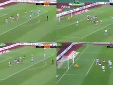 Zhou Junchen scored for Qingdao Huanghai. Screenshots/CCTV