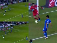 Cruz Azul comenzó el partido perdiendo. Capturas/TDN