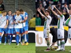 Los partidos entre Hoffenheim y Borussia Monchengladbach siempre son sinónimo de goles. AFP